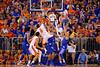 Florida Gators guard Kasey Hill puts up a shot during the second half.  Florida Gators vs Kentucky Wildcats.  February 7th, 2015. Gator Country photo by David Bowie.