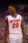 Florida Gators guard Michael Frazier II shows off a smile as the Gators take the early lead against Kentucky.  Florida Gators vs Kentucky Wildcats.  February 7th, 2015. Gator Country photo by David Bowie.