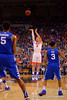Florida Gators forward Alex Murphy with a three point attempt during the first half.  Florida Gators vs Kentucky Wildcats.  February 7th, 2015. Gator Country photo by David Bowie.