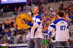 The Florida Drumline performs for the crowd before the start of the game against the Wildcats.  Florida Gators vs Kentucky Wildcats.  February 7th, 2015. Gator Country photo by David Bowie.