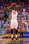 Florida Gators forward Dorian Finney-Smith with a shot attempt during the first half.  Florida Gators vs Kentucky Wildcats.  February 7th, 2015. Gator Country photo by David Bowie.