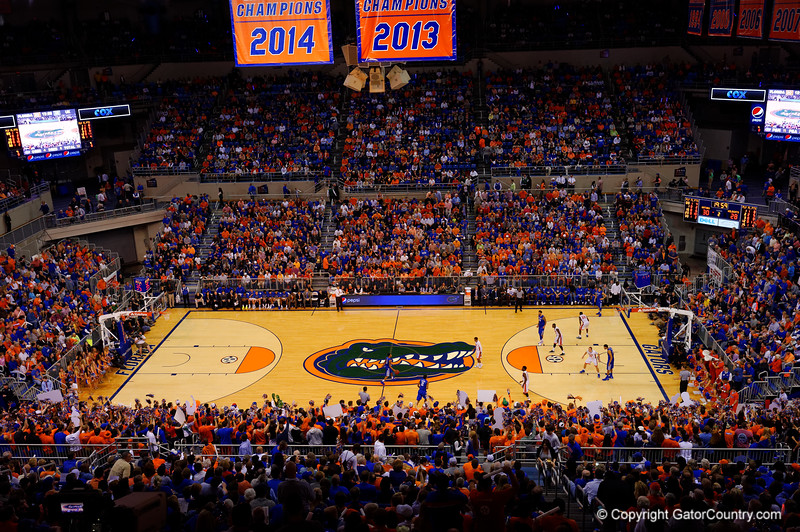 The Stephen C. O'Connell center was standing room early with Kentucky coming into town.  Florida Gators vs Kentucky Wildcats.  February 7th, 2015. Gator Country photo by David Bowie.
