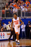 Florida Gators guard Michael Frazier II is all smiles after hitting another three pointer during the first half.  Florida Gators vs Kentucky Wildcats.  February 7th, 2015. Gator Country photo by David Bowie.