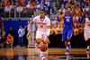 Florida Gators guard Kasey Hill dribbles up court during the first half.  Florida Gators vs Kentucky Wildcats.  February 7th, 2015. Gator Country photo by David Bowie.