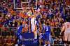 Florida Gators center Jon Horford leaps up for a shot during the second half.  Florida Gators vs Kentucky Wildcats.  February 7th, 2015. Gator Country photo by David Bowie.