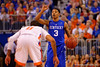 Kentucky Wildcats guard Tyler Ulis dribbles up court during the second half.  Florida Gators vs Kentucky Wildcats.  February 7th, 2015. Gator Country photo by David Bowie.
