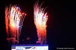 The fireworks go off as the Florida Gators score their first touchdown of the game.  Florida Gators vs Missouri Tigers.  October 18th, 2014. Gator Country photo by David Bowie.