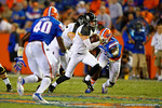Missouri Tigers quarterback Maty Mauk sprints upfield during the fourth quarter.  Florida Gators vs Missouri Tigers.  October 18th, 2014. Gator Country photo by David Bowie.