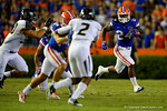 Florida Gators running back Matt Jones rushes downfield during the first half.  Florida Gators vs Missouri Tigers.  October 18th, 2014. Gator Country photo by David Bowie.