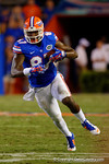 Florida Gators tight end Tevin Westbrook catches the ball and turns upfield during the third quarter.  Florida Gators vs Missouri Tigers.  October 18th, 2014. Gator Country photo by David Bowie.