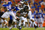 Missouri Tigers tailback Marcus Murphy cuts up field and rushes for a first down during the first quarter.  Florida Gators vs Missouri Tigers.  October 18th, 2014. Gator Country photo by David Bowie.