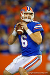 Florida Gators quarterback Jeff Driskel looks downfield for an open reveiver during the second quarter.  Florida Gators vs Missouri Tigers.  October 18th, 2014. Gator Country photo by David Bowie.