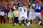 Missouri Tigers quarterback Maty Mauk throws downfield during the first quarter.  Florida Gators vs Missouri Tigers.  October 18th, 2014. Gator Country photo by David Bowie.