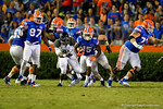 Florida Gators running back Brandon Powell rushes up the middle and downfield late in the fourth quarter.  Florida Gators vs Missouri Tigers.  October 18th, 2014. Gator Country photo by David Bowie.