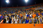 What's left of the Florida Gators student section watches on late in the fourth quarter.  Florida Gators vs Missouri Tigers.  October 18th, 2014. Gator Country photo by David Bowie.