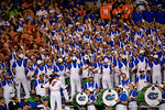 The Florida Gator band plays on during the third quarter.  Florida Gators vs Missouri Tigers.  October 18th, 2014. Gator Country photo by David Bowie.