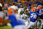 Missouri Tigers quarterback Maty Mauk throws over his lineman and downfield during the first quarter.  Florida Gators vs Missouri Tigers.  October 18th, 2014. Gator Country photo by David Bowie.