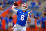 Florida Gators quarterback Jeff Driskel throws downfied during pre-game warmups.  Florida Gators vs Eastern Michigan Eagles.  September 6th, 2014. Gator Country photo by David Bowie.