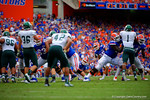 Florida Gators kicker Francisco Velez looks up as his thrid field goal of the day goes through the up rights.   Florida Gators vs Eastern Michigan Eagles.  September 6th, 2014. Gator Country photo by David Bowie.