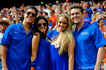 Florida Gators fans pose for the camera.  Florida Gators vs Eastern Michigan Eagles.  September 6th, 2014. Gator Country photo by David Bowie.