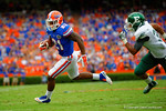Florida Gators running back Kelvin Taylor sprints around the outside and into the endzone for his second touchdown of the game.  Florida Gators vs Eastern Michigan Eagles.  September 6th, 2014. Gator Country photo by David Bowie.