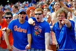 Florida Gators fans celebrate the touchdown.  Florida Gators vs Eastern Michigan Eagles.  September 6th, 2014. Gator Country photo by David Bowie.
