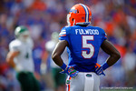 Florida Gators wide receiver Ahmad Fulwood waits during a TV timeout for the game to resume.  Florida Gators vs Eastern Michigan Eagles.  September 6th, 2014. Gator Country photo by David Bowie.