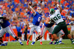 Florida Gators quarterback Jeff Driskel throws downfield during the second half.  Florida Gators vs Eastern Michigan Eagles.  September 6th, 2014. Gator Country photo by David Bowie.