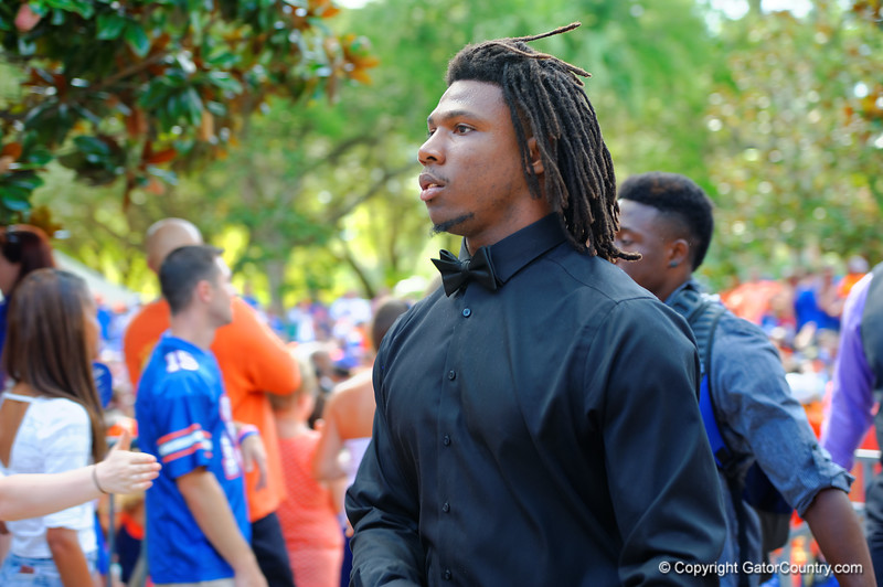 The Florida Gators start of the 2014 football season with the Florida Gators Gator Walk.