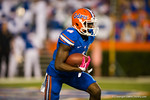 Florida Gators wide receiver Andre Debose sprints upfield during the opening kickoff.  Florida Gators vs LSU Tigers.  October 11th, 2014. Gator Country photo by David Bowie.