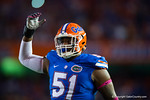 Florida Gators offensive lineman Antonio Riles Jr. during pre-game warmups.  Florida Gators vs LSU Tigers.  October 11th, 2014. Gator Country photo by David Bowie.