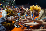 Florida Gators fans have a little fun with the LSU Tigers mascot.  Florida Gators vs LSU Tigers.  October 11th, 2014. Gator Country photo by David Bowie.