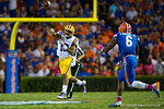 LSU Tigers quarterback Antony Jennings throws downfield during the third quarter.  Florida Gators vs LSU Tigers.  October 11th, 2014. Gator Country photo by David Bowie.