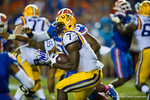 LSU Tigers running back Leonard Fournette rushes upfield during the third quarter.  Florida Gators vs LSU Tigers.  October 11th, 2014. Gator Country photo by David Bowie.