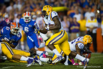 LSU Tigers running back Leonard Fournette rushes downfield during the first quarter.  Florida Gators vs LSU Tigers.  October 11th, 2014. Gator Country photo by David Bowie.