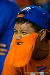 A Florida Gators fan and his orange beard getting loud during the second quarterFlorida Gators vs LSU Tigers.  October 11th, 2014. Gator Country photo by David Bowie.