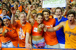 Florida Gators fans cheer on their team in the first half against the Kentucky Wildcats.  Florida Gators vs Kentucky Wildcats.  September 13th, 2014. Gator Country photo by David Bowie.