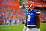 Florida Gators defensive lineman Leon Orr during pre-game drills.  Florida Gators vs Kentucky Wildcats.  September 13th, 2014. Gator Country photo by David Bowie.