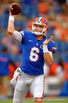 Florida Gators quarterback Jeff Driskel throwing during a warm up drill before the start of the game.  Florida Gators vs Kentucky Wildcats.  September 13th, 2014. Gator Country photo by David Bowie.