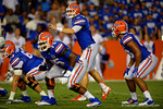 Florida Gators quarterback Jeff Driskel calls out the play in the first half against the Kentucky Wildcats.  Florida Gators vs Kentucky Wildcats.  September 13th, 2014. Gator Country photo by David Bowie.