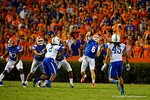 Florida Gators quarterback Jeff Driskel throws a deep ball during the first half against the Kentucky Wildcats.  Florida Gators vs Kentucky Wildcats.  September 13th, 2014. Gator Country photo by David Bowie.