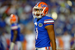 Florida Gators wide receiver Quintan Dunbar looks to the sideline in the first half against the Kentucky Wildcats.  Florida Gators vs Kentucky Wildcats.  September 13th, 2014. Gator Country photo by David Bowie.
