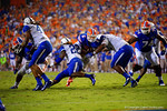 Florida Gators quarterback Jeff Driskel runs inside the 10 yard line during the second overtime against the Kentucky Wildcats.  Florida Gators vs Kentucky Wildcats.  September 13th, 2014. Gator Country photo by David Bowie.