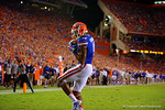 Florida Gators wide receiver Demarcus Robinson makes the catch in the enzone to put the Gators up 20-17 in the third quarter against the Kentucky Wildcats. Florida Gators vs Kentucky Wildcats.  September 13th, 2014. Gator Country photo by David Bowie.