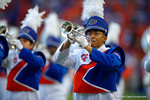 The University of Florida Gators band takes the field prior to the start of the game against the Kentucky Wildcats. Florida Gators vs Kentucky Wildcats.  September 13th, 2014. Gator Country photo by David Bowie.