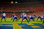 Florida Gators quarterback Jeff Driskel prepares to snap the ball on third down and three from the six yard line during the second overtime against the Kentucky Wildcats.  Florida Gators vs Kentucky Wildcats.  September 13th, 2014. Gator Country photo by David Bowie.