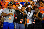 Florida Gators class of 2015 recruit Dexter Williams and other recruits sing along with the Florida fans during the thrd quarter intermission at the Kentucky Wildcats game.  Florida Gators vs Kentucky Wildcats.  September 13th, 2014. Gator Country photo by David Bowie.
