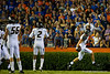 Missouri Tigers linebacker Michael Scherer sprints into the endzone for a touchdown following a fumble recovery.  Florida Gators vs Missouri Tigers.  October 18th, 2014. Gator Country photo by David Bowie.