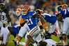 Florida Gators running back Kelvin Taylor rushes downfield.  Florida Gators vs Missouri Tigers.  October 18th, 2014. Gator Country photo by David Bowie.