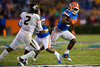 Florida Gators running back Kelvin Taylor rushes to the strong side during the fourth quarter.  Florida Gators vs Missouri Tigers.  October 18th, 2014. Gator Country photo by David Bowie.